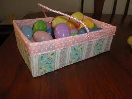Easter Eggs in Reusable Basket
