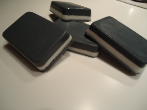 Minty Striped Soap