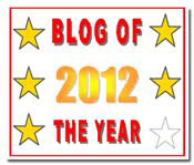 Blog of the Year Award 5 star