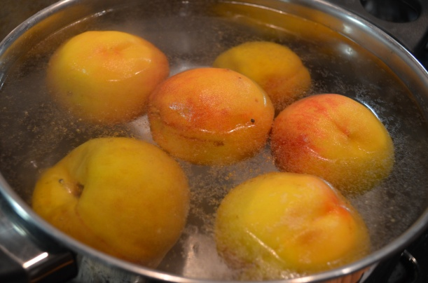 Blanching the Peaches