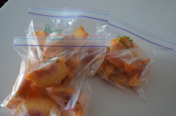 Fresh Frozen Peach Slices