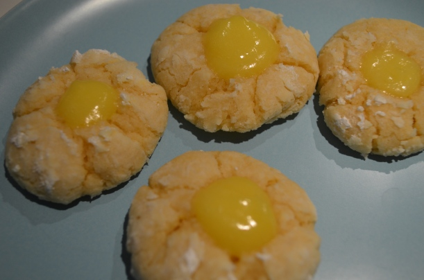Lemon Crinkle Cookies with Lemon Curd