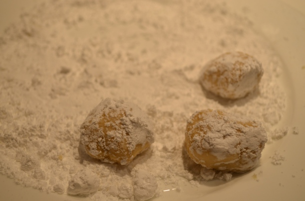 Lemon Crinkle Cookies Rolled in Icing Sugar