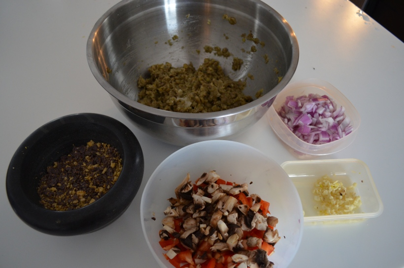 Most of the Ingredients for the Lentil Loaf