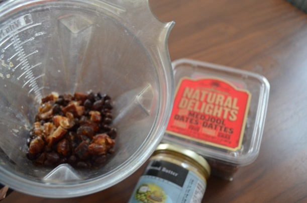 Dates, Black Beans, and Almond Butter